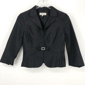 Rickie Freeman Teri Jon Silk Wool Jacket Sz 4
